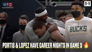 Brook Lopez (33 PTS) & Bobby Portis (22 PTS) Got The Win For Giannis