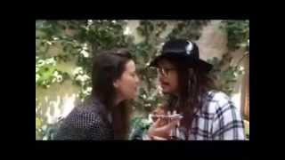 "Steven Tyler and Liv Tyler ""play"" the iPhone to ""Can't Take My Eyes..."