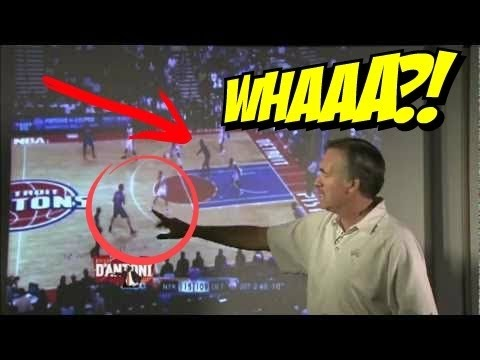 NBA Coach of the year :: Mike D'Antoni Explains How To Run Basketball Pick and Roll