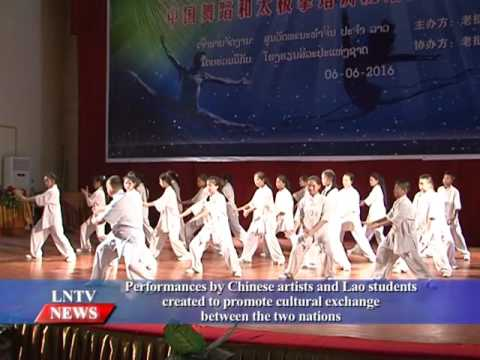 Lao NEWS on LNTV: Performances by Chinese artists & Lao students for cultural exchange.9/6/2016