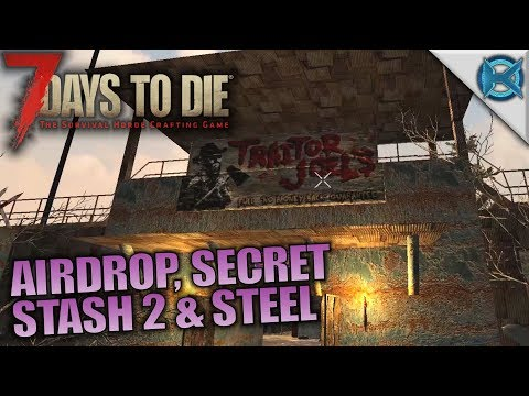 AIRDROP, SECRET STASH 2 & STEEL | 7 Days to Die | Let's Play Husband & Wife Gameplay | S05E14