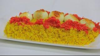 ارز اصفر بالعدس و البيض | نجلاء الشرشابي