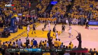Game 1 Warriors (GSW) Vs Spurs (SA) - Full Game Highlights -  May 14 2017 - NBA Playoffs
