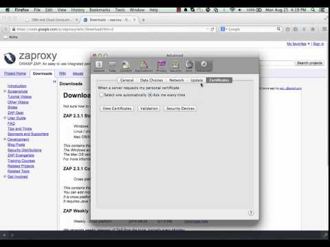 ZAP - Setting up ZAP for Browser