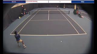 tulsa tennis highlights :kandem(tulsa) vs tsiranidis(mercer)