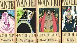 Black Beard Crew Bounties In One Piece - One piece chapter 908+.