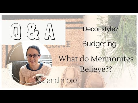 Q & A!   Travel   What Mennonites Believe... and a lot more!   Lynette Yoder