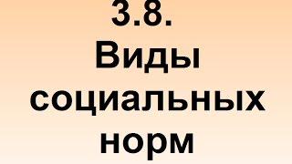 3.8. Социальные нормы