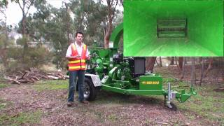 Red Roo:  Delivering the 1260 WoodChipper to Holmesglen TAFE - Demo