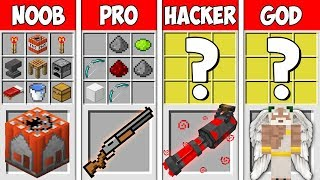 Minecraft NOOB vs PRO vs HACKER vs GOD: SECRET WEAPONS CRAFTING in Minecraft | Animation