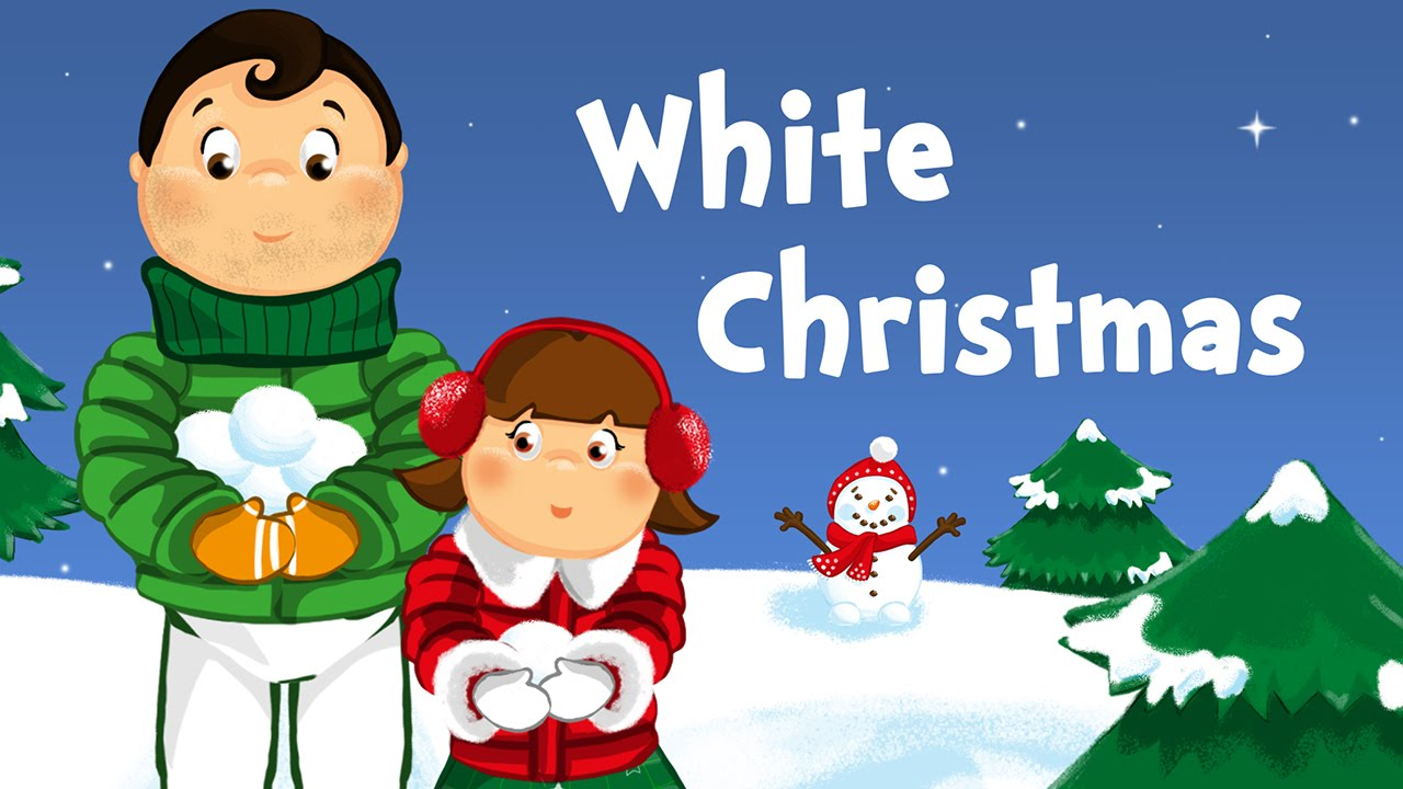 White Christmas (christmas song for kids with lyrics) - YouTube