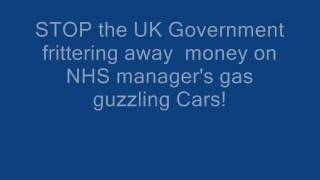 Stop the NHS frittering away money on expenses on gas guzzling open top vehicles