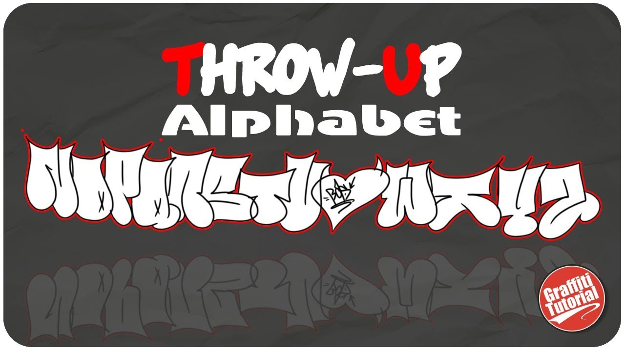 Throw up graffiti alphabet n z 2