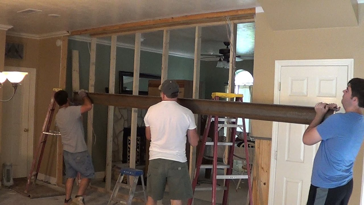Diy Kitchen Remodel 6 Removing Load Bearing Wall 2