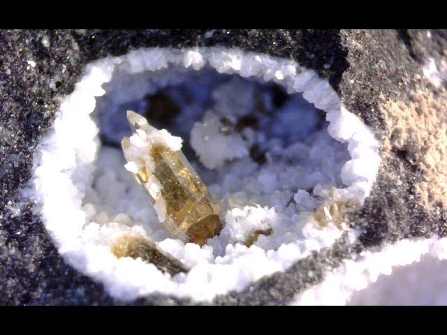 Rock hounding (crystals)  at Highway 97 and Westside road.