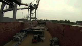 Rheingold on the Rhine - building the ship