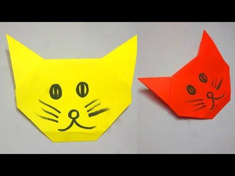 Easy Origami Cat | Paper Cat | Origami Animals | Paper Crafts Easy