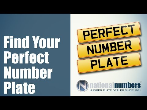 Number plates, Private Plates to buy from National Numbers