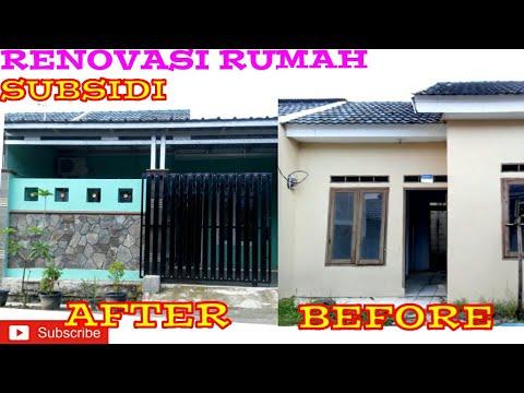 Renovasi Rumah Subsidi Type 30 60 Sebelum Dan Sesudah Youtube
