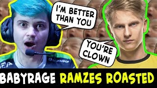 OG.Pajkatt ROASTING babyrage Ramzes trying TRASHTALK like Arteezy
