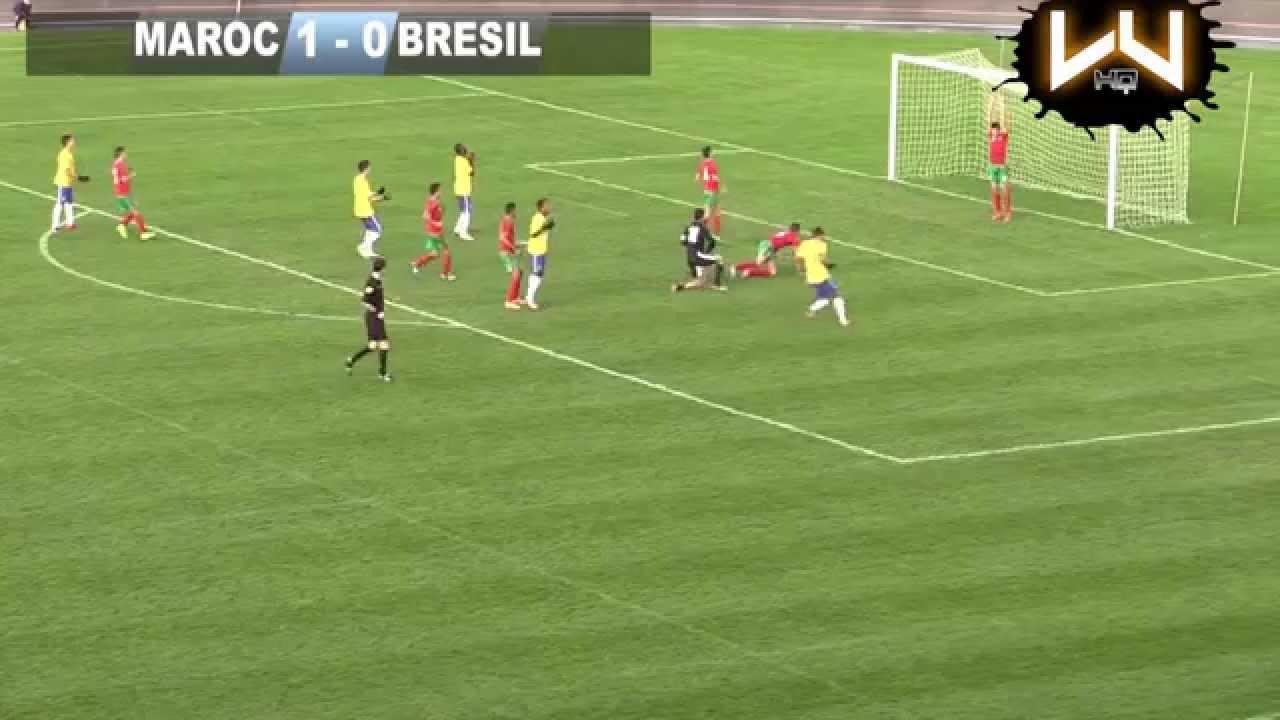 r u00e9sum u00e9 de match maroc vs br u00e9sil mondial football montaigu