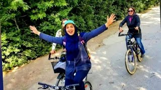 Iranian women protest ban on women riding bicycles
