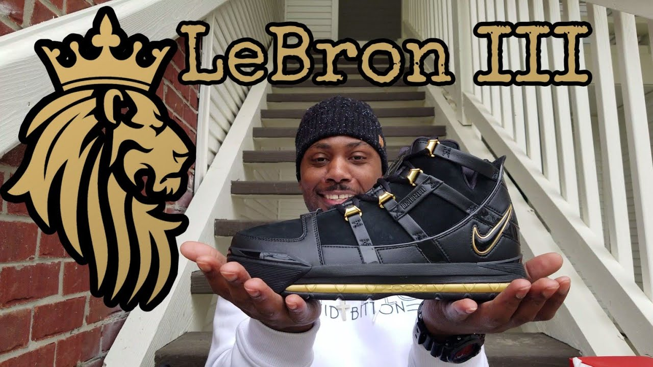 10050db637d 2018 Retro Nike Zoom LeBron 3 QS Metallic Gold pickup and full in hand  review! 🔥
