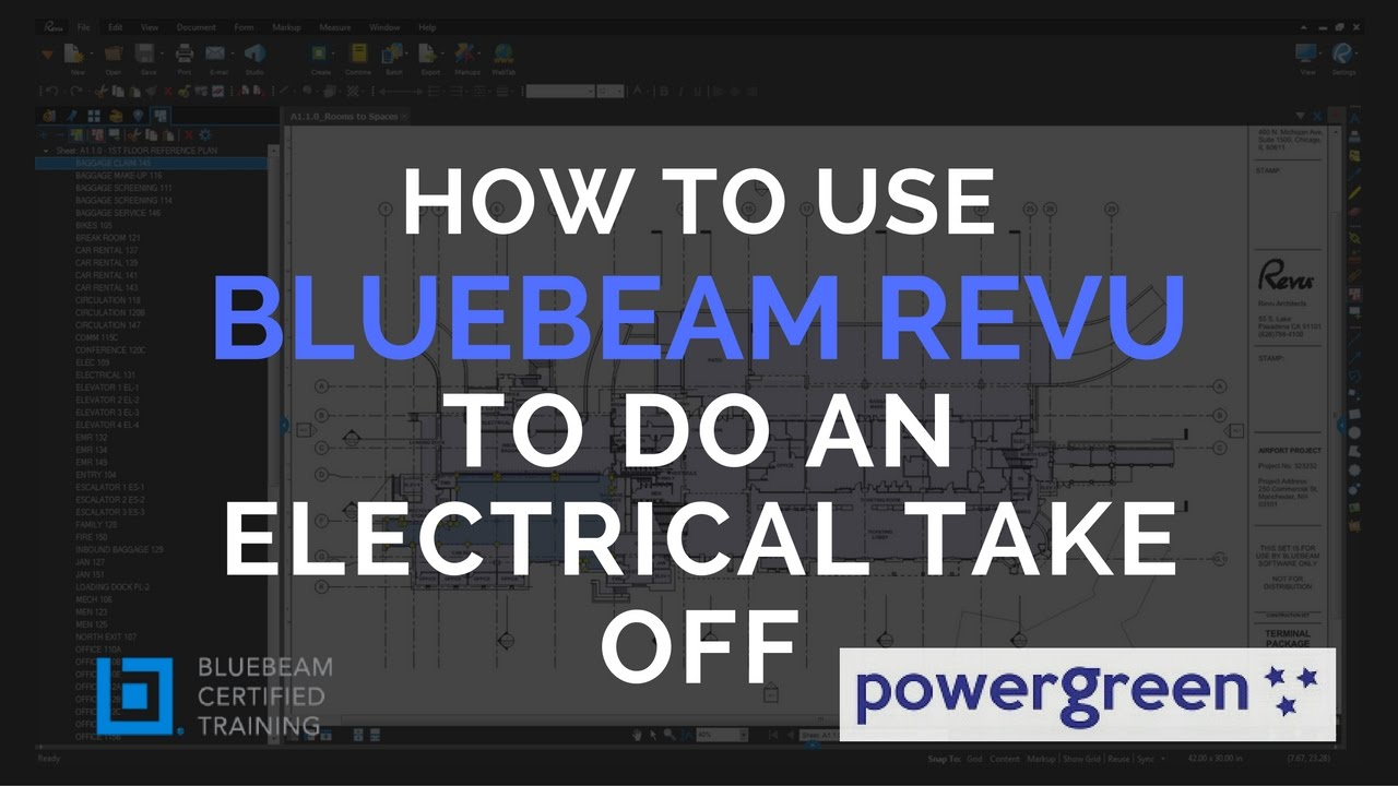 Ts2 How To Do An Electrical Take Off With Bluebeam Revu Youtube