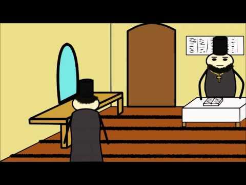 Мульт анекдот. Молодой священник в новом приходе