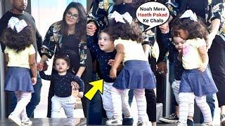 Sunny Leone Daughter Nisha Like A Elder Sister Taking Care Of Brother Noah