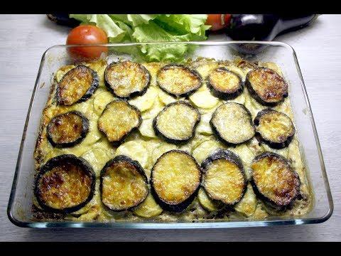 Мусака с баклажанами и картофелем по-кипрски