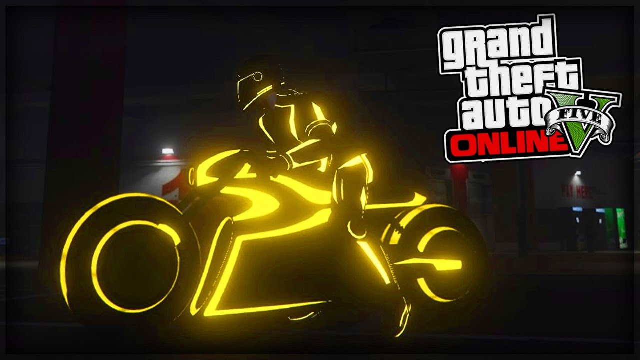 la moto la plus rapide de gta 5 online dlc tron youtube. Black Bedroom Furniture Sets. Home Design Ideas