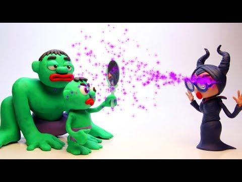 Hulk hypnotic animal Prank 💕 Superhero Play Doh Stop motion videos for kids