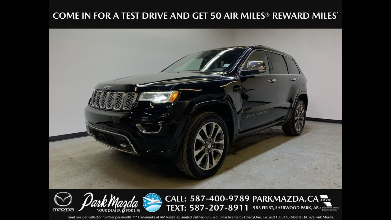 Overland Park Mazda >> Black 2018 Jeep Grand Cherokee Overland Review Park Mazda