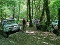 Два УАЗа и Нива в Сочинском лесу