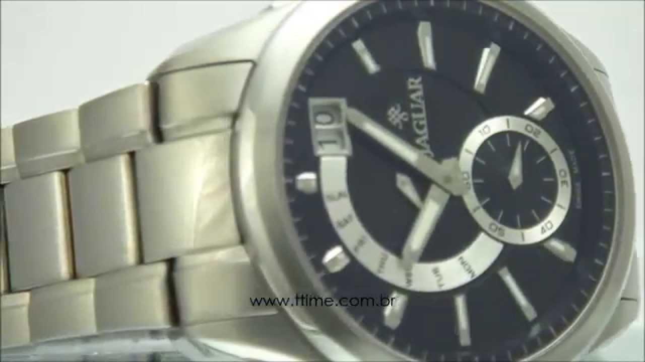 b738164d690 Relógio Jaguar J01MBSS01 P1SX - YouTube
