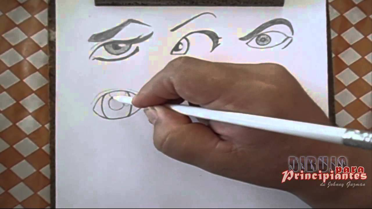 Como Dibujar FÁcil MÉtodo Para Principiantes Y Como: 15 DIBUJO PARA PRINCIPIANTES Dibujando Ojos