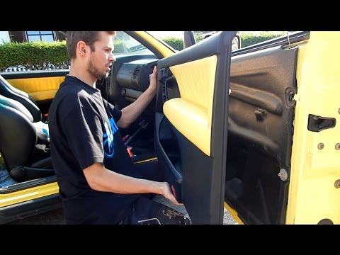 vw golf 3 t rverkleidung demontieren ausbauen tutorial. Black Bedroom Furniture Sets. Home Design Ideas