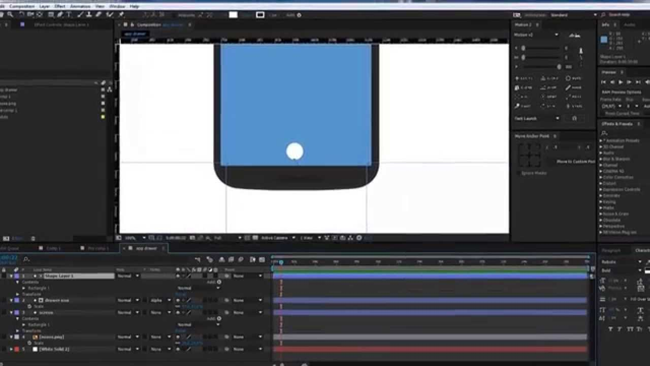 mobile mockup tool: After Effects