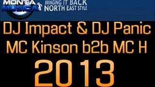 DJ Impact & DJ Panic - MC Kinson b2b MC H - NE Makina 2013