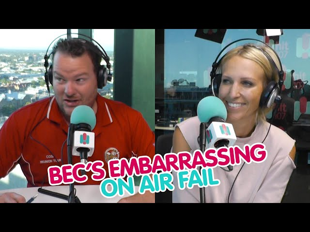 Bec's Embarrassing Attempt To Be 'Punny' On-Air