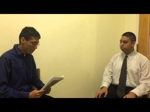 Mock Job Interview- David Chaires