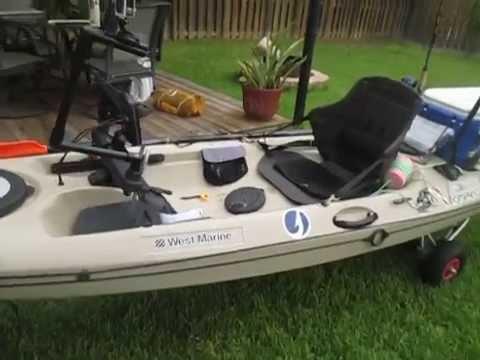 Fishing kayak update 010 youtube for Cabela s advanced angler 120 trolling motor