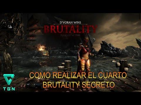 Mortal Kombat X COMO REALIZAR EL  BRUTALITY DE ESCENARIO SECRETO # 4 (EASTER EGG)