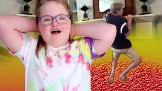 THE FLOOR IS LAVA CHALLENGE! (MattyBRaps vs Sarah Grace)