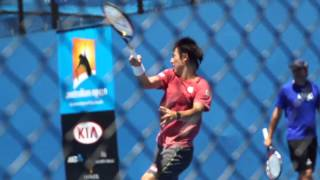 Kei Nishikori: Training Day - Australian Open 2015