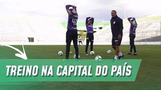 PALMEIRAS FAZ TREINO ABERTO EM BRASÍLIA