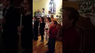 Christmas eve children's music performance