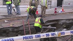 Crews Repair Massive Upper West Side Sinkhole