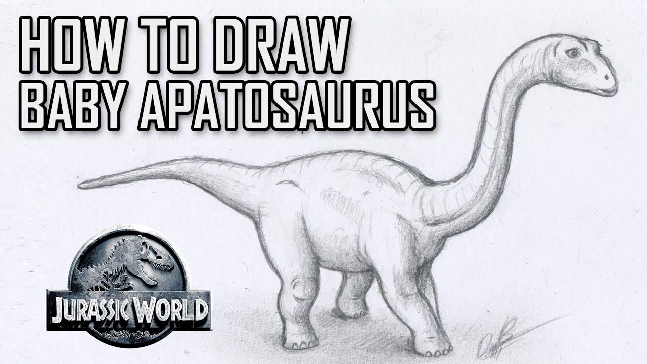 How To Draw Baby Apatosaurus Brontosaurus from Jurassic ...